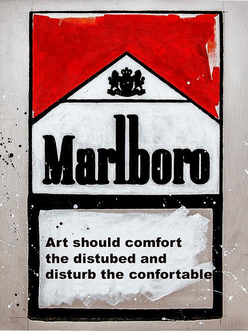 Disturb the Comfortable - Marlboro Cigarette Boxes
