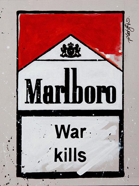 War Kills - Marlboro Cigarette Boxes