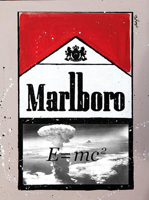 E=mc2 - Marlboro Cigarette Boxes