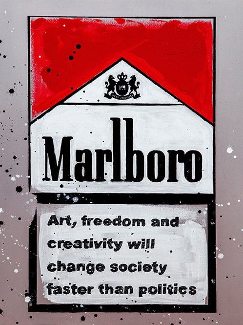 Art, Freedom & Creativity - Marlboro Cigarette Boxes