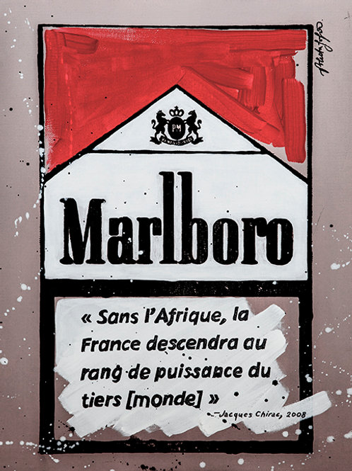 La France sans l'Afrique - Marlboro Cigarette Boxes