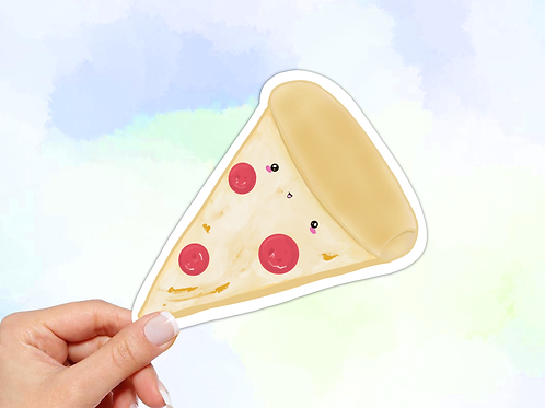 Pizza Sticker, Kawaii Food Sticker