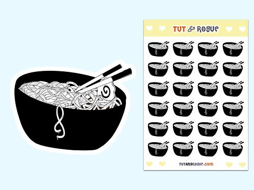 Ramen Noodle Sticker Sheet
