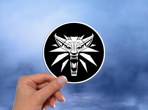The Witcher Medallion Sticker, Video Game Sticker
