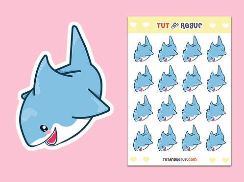 Shark Stickers Sheet