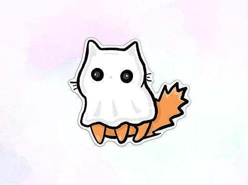 Cat Ghost Vinyl Sticker