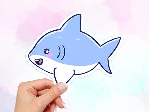 Kawaii Shark Vinyl Sticker