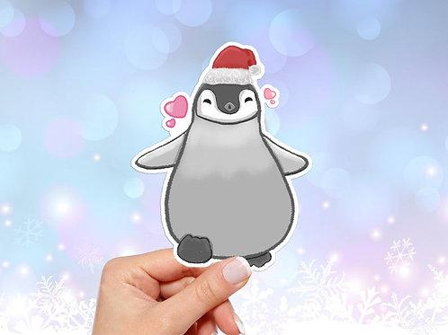 Christmas Penguin Vinyl Sticker