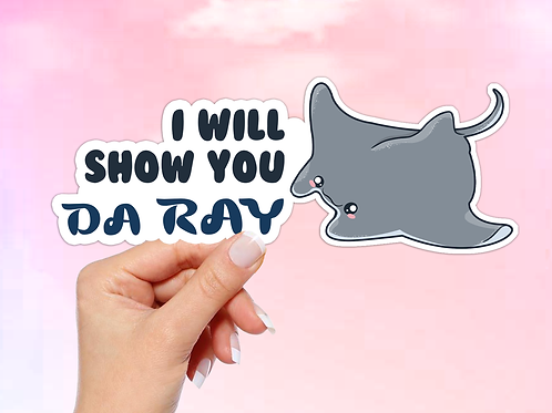 Manta Ray Vinyl Sticker