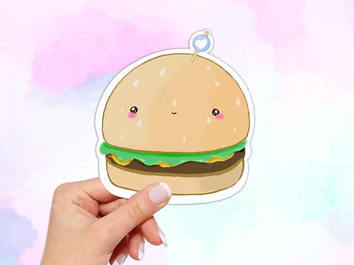 Burger Sticker, Kawaii Food Sticker