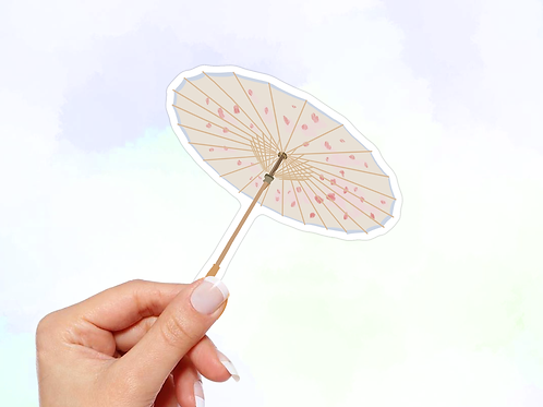 Japanese Umbrella Vinyl Sticker