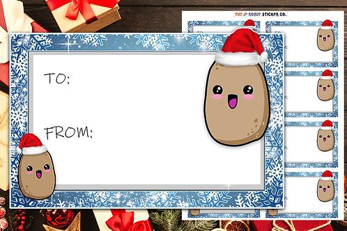 Christmas Gift Tags Potato Gift Labels