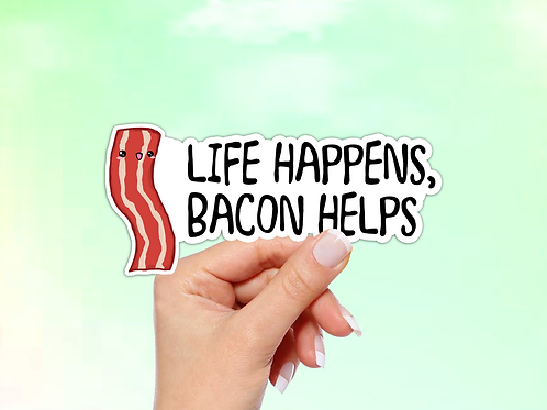 Bacon Vinyl Sticker
