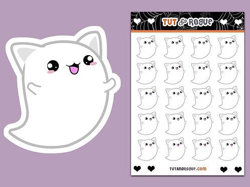 Ghost Sticker Sheet, Kawaii Cat stickers