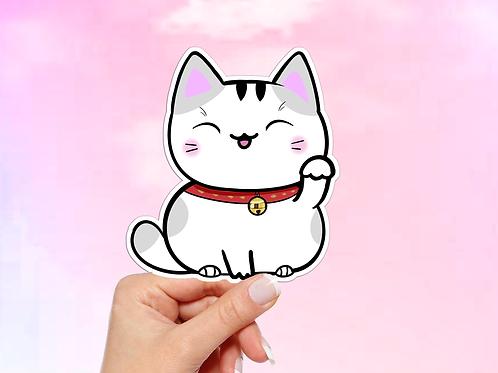 Lucky Cat Sticker, Vinyl