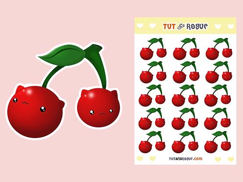 Cat Cherry Sticker Sheet