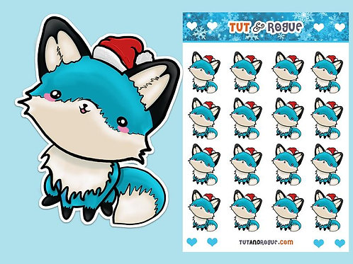 Christmas Fox Sticker Sheet