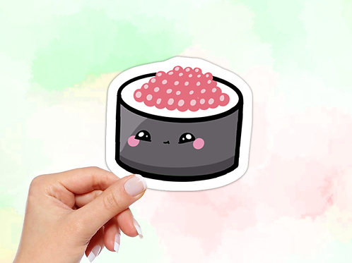 Sushi Vinyl Sticker, Kawaii Sticker