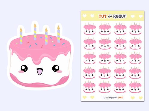 Birthday Cake Sticker Sheet