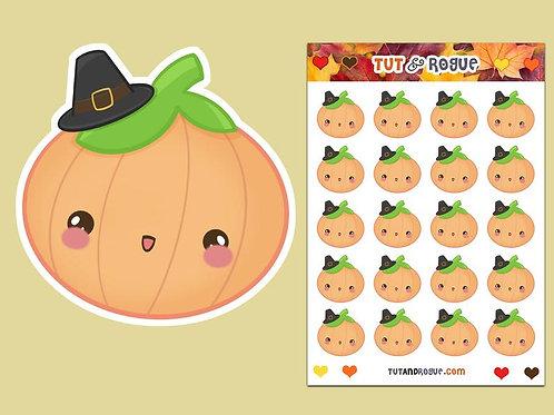 Thanksgiving Pumpkin Sticker Sheet