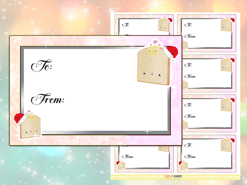 Christmas Gift Tags Bread Gift Labels