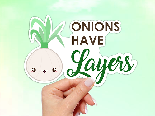 Onion Vinyl Sticker