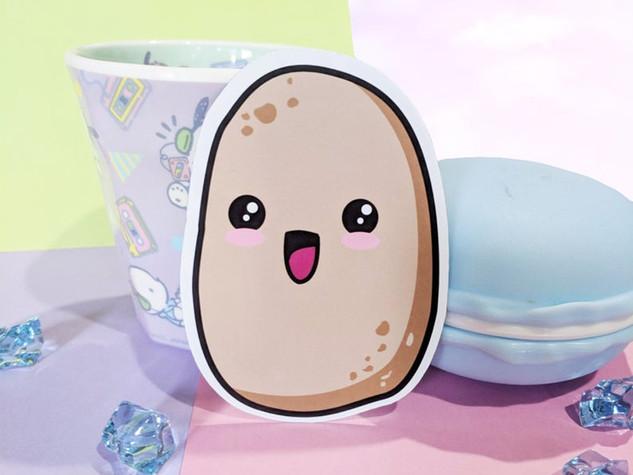 Potato Magnet, Food Magnet,