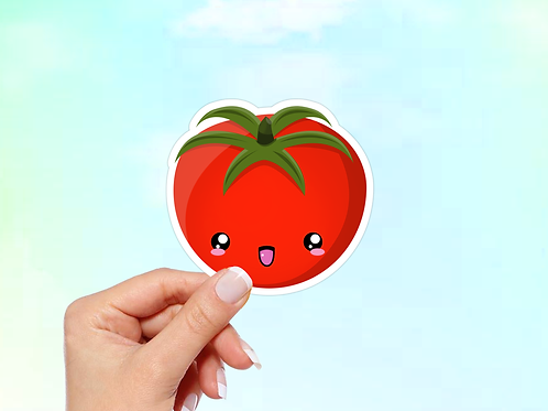 Tomato Vinyl Sticker, Kawaii Sticker