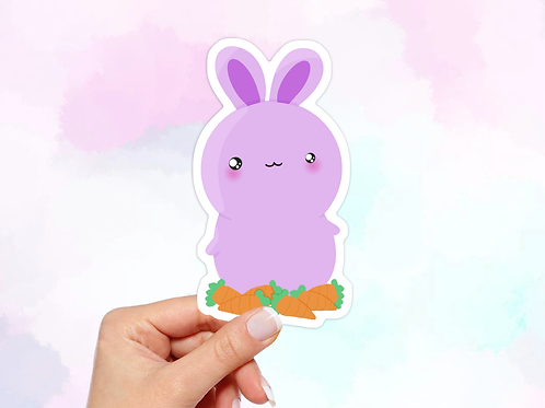 Bunny Vinyl Sticker, Kawaii Sticker
