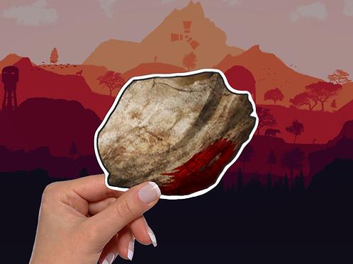 Rust Rock Sticker, Video Game Rust Sticker