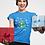 Thumbnail: Funny Dinosaur Christmas T-Shirt, Short-Sleeve Unisex T-Shirt
