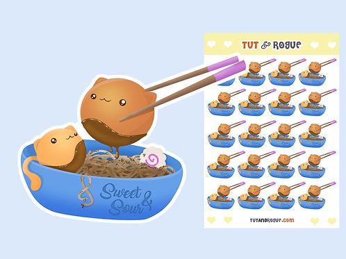 Ramen Noodles Sticker Sheet
