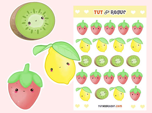 Fruit Stickers Sheet