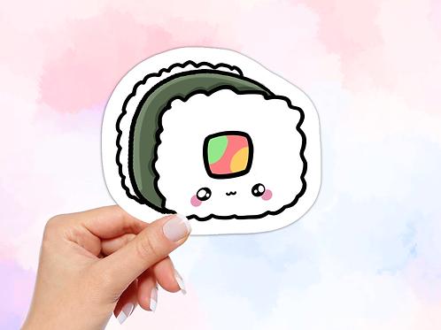 Sushi Vinyl Sticker, Kawaii Food Sticker