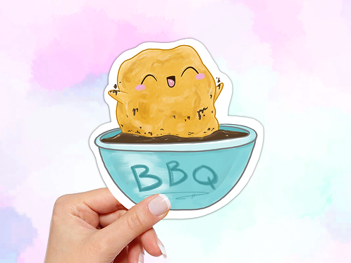 Chicken Nugget Sticker, Kawaii Food Sticker
