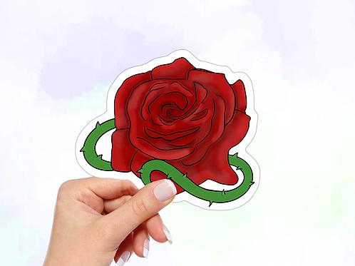 Rose Vinyl Sticker