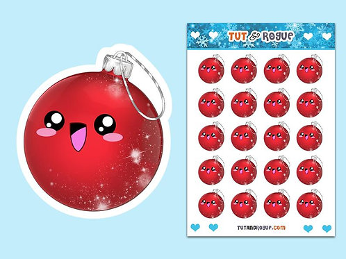 Christmas Ornament Sticker Sheet, Christmas stickers