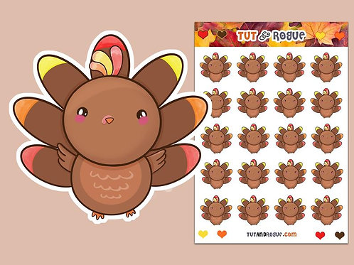 Thanksgiving Turkey Sticker Sheet