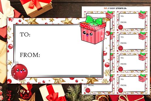 Christmas Gift Tags Ortanment and Gift Box