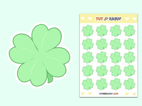 Four Leaf Clover Sticker Sheet