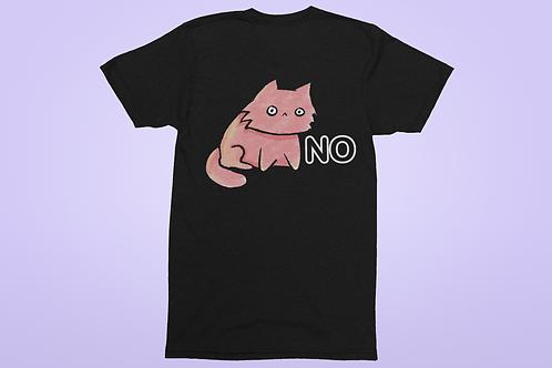 Funny Cat T-Shirt, Grumpy Cat says No, Funny Cat Shirt, Cat lovers gift