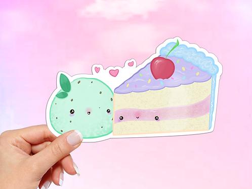 Ice Cream and Cake Vinyl Sticker, Junk food Sticker
