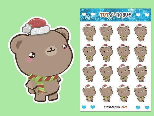 Christmas Bear Sticker Sheet