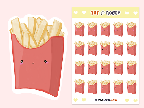 French Fries Sticker Sheet