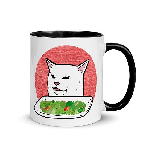 Women vs Cat Coffee Cup