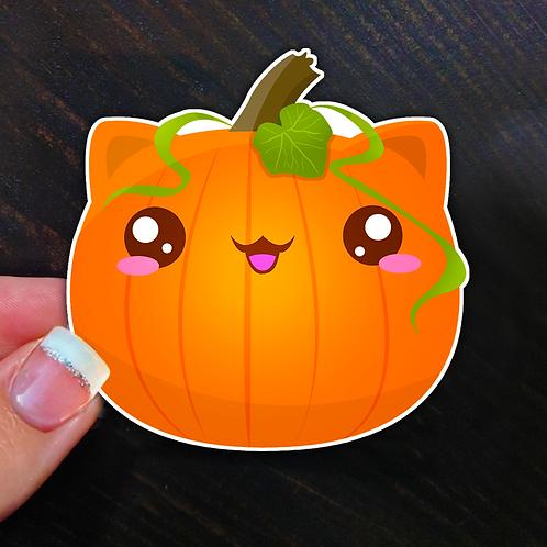 Pumpkin Vinyl Sticker
