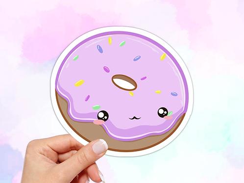 Donut Sticker, Kawaii Food Sticker, Kawaii Donut