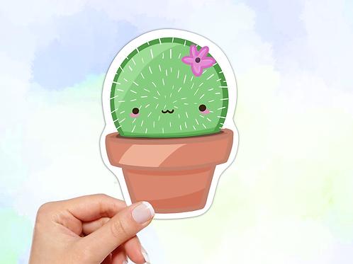 Cactus Vinyl Sticker, Kawaii Sticker