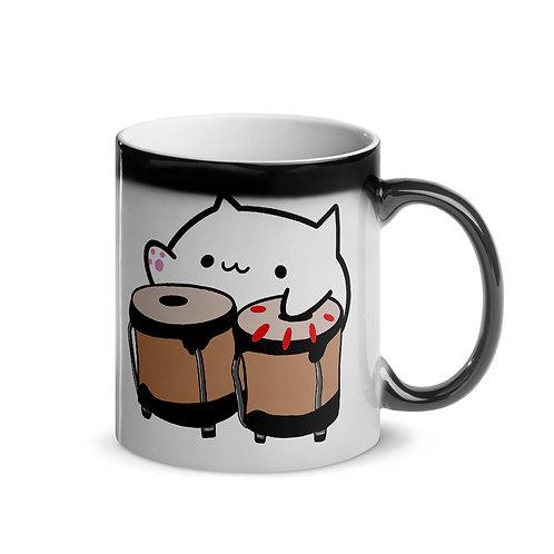 Bongo Cat Meme Coffee Cup