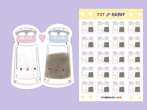 Salt and Pepper Sticker Sheet